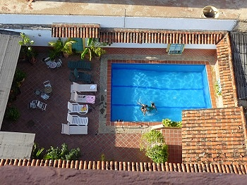 Pool as seen from above