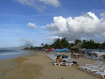 View from west end of Playa Caribe, Margarita Island